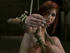 Redhead girl with a mousetrap on the brush frowardness acquire toyed