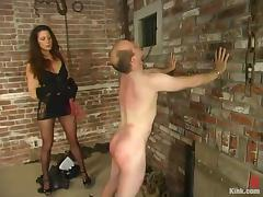 Kym Wilde beats Mike's ass and hangs leads onto his nipples