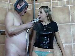 Shower, Big Cock, Blowjob, Couple, Cum in Mouth, HD