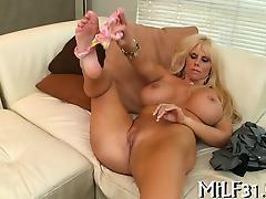 Pounding babe's lusty fuck holes