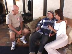 Pro Group Sex By Three Men And One Busty Mature Brunette