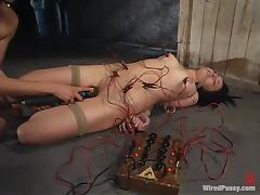 Alexa Von Tess enjoys current rushes in a hot BDSM scene porn tube video
