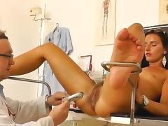 Small-tit chick in the medicine chair porn tube video
