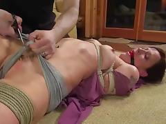 Dude keeps two slaves at his place to torture