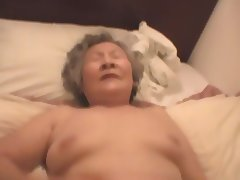 Asian Granny tube porn video