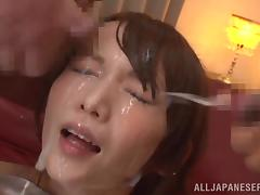cum glazed japanese beauty
