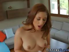 Redhead fists her pussy like never before porn tube video