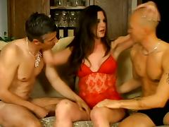 Bisexual Scene With Horny Slut And Two Wild Fuckers tube porn video