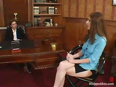Paris Kennedy punishes Isabella Soprano in an office
