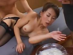 Japanese chick swallows some sperm tube porn video
