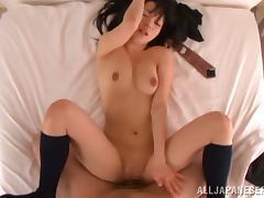 Petite Japanese schoolgirl wants some orgasm