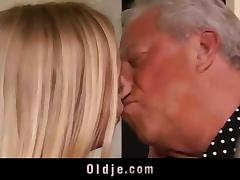 Two old bastards fucks a hot blonde tube porn video