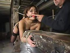 Smoking hot Asian Annie Cruz gets balled by a fucking machine
