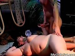 Sexy brunette MILF gets fucked hard part4