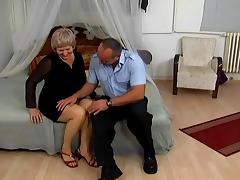 Nasty granny Betty moans loudly while getting her cunt and ass drilled tube porn video