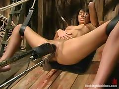 Amazing Bobbi Blair gets her shaved pussy toyed