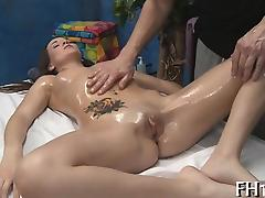 Hot babe plays with dick tube porn video