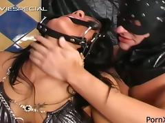 Brunette Chained Up Bondage Girl Gets Fully Pissed On tube porn video