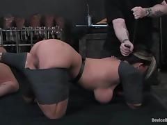 Alexa Jordan and Claire Dames play lesbian games in BDSM video