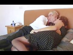 Horny Granny Fucks Older Man