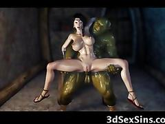3D Evil Ogres Fuck a Princess! porn tube video