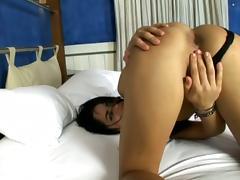 Brunette Babe Barbara Gets Screwed By Big Black Cock