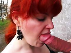 Amateur mature lady is riding him anal