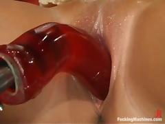 Katja Kassin moans crazily while being double penetrated by sex machine tube porn video