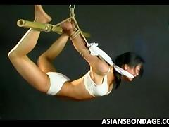 flexible cutie tied and hanged