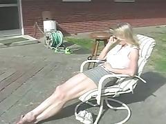 Slender blond hun loves getting her ass spanked