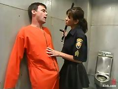 Police Officer Cole Conners Dominates and Strapon Fucks Male Inmate tube porn video