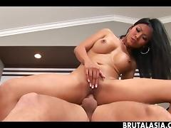 Classy Asian chick gets assfucked by white