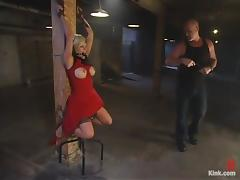 Gia Paloma gets her mouth and twat drilled remarcably well in BDSM vid tube porn video