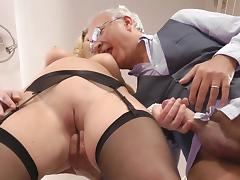 Natural-tit blonde with cute face Lucy Heart fuck with old man tube porn video