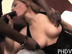 Huge dick in her holes