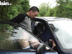 Austrian, Austrian, Car, Dildo, Masturbation, Outdoor