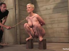 Blonde, BDSM, Blonde, Spanking, Short Hair