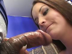 Lea Stevenson toys her hairy pussy and gets fucked and facialed