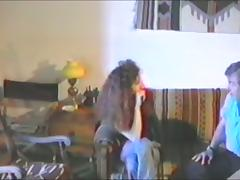Retro video with curly girl getting fucked in her bushy pussy tube porn video