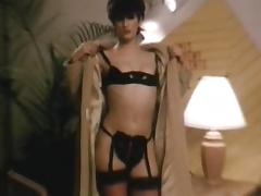 Petite milf in sexy lingerie trying to please her husband