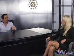 Angela fucks around with her new boss