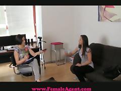 Sexy Cougar Casting Agent Fucks Amateur Model Hard!
