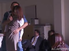 Robber Fucking Missionary With A Hot Japanese Babe In Office tube porn video