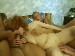 Gangbang Is The Only Thing That Can Make This Mature Redhead Hoe Pleased