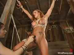 Kinky Electrical Torture Devices and Sex Toys used to Have Fun with Chick