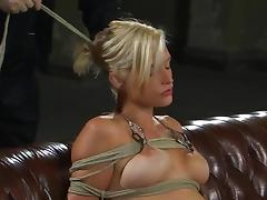 Bound, BDSM, Bondage, Bound, Sofa, Tied Up