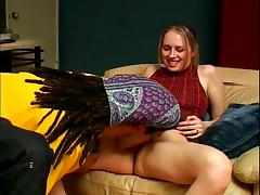Leila Swan sucks a black cock and gets fucked from behind
