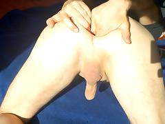 A big cup is preading my asshole to a big gape porn tube video