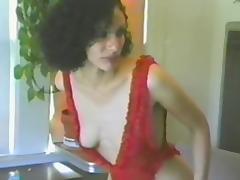 Slutty babe sucks on a big cock after masturbating