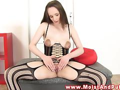 Hottest tight pussy babe stretching pussy in hot high def